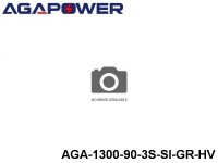 3 AGA-Power 90C Silicon Graphene High Voltage Battery Packs AGA-1300-90-3S-SI-GR-HV Part No. 89001