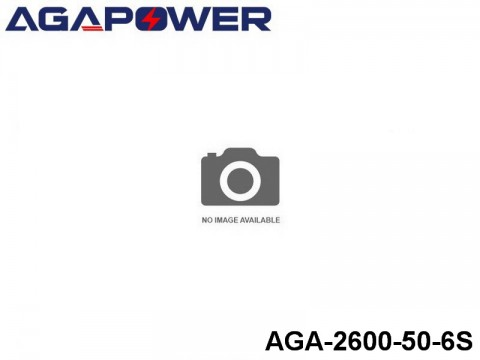 116 AGA-Power 50C Lipo Battery Packs AGA-2600-50-6S Part No. 85010
