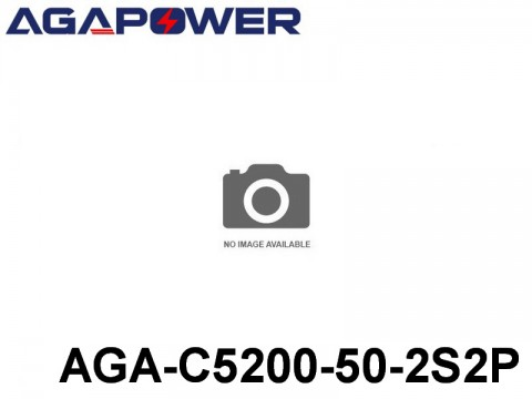 121 AGA-Power-50C RC Cars Lipo Packs 50 AGA-C5200-50-2S2P 7.4 2S1P