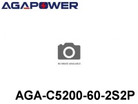 114 AGA-Power-60C RC Cars Lipo Packs 60 AGA-C5200-60-2S2P 7.4 2S1P