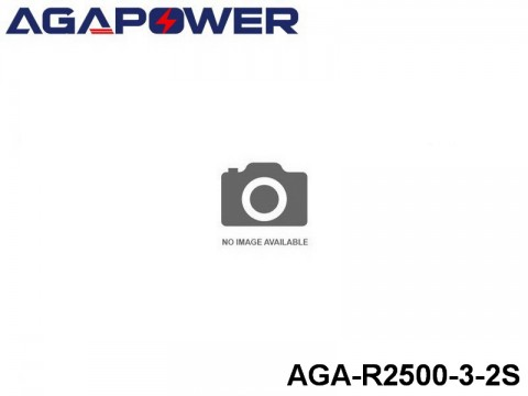 295 AGA-Power 3C RX and TX Lipo Battery Packs AGA-R2500-3-2S Part No. 80301