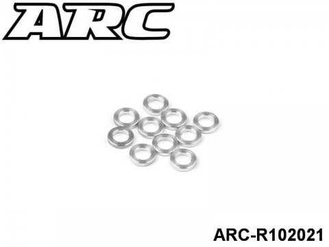 ARC-R102021 3x6x1.0mm Alu Shims(8pcs) 799975264240