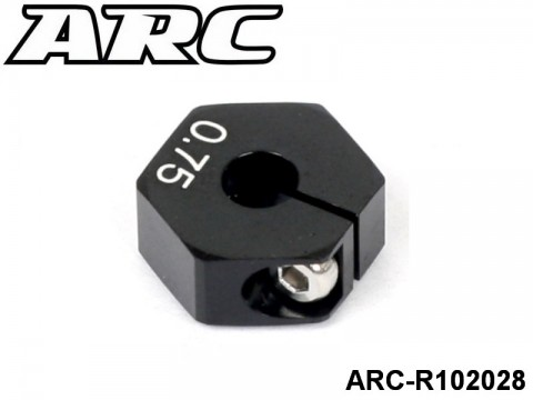 ARC-R102028 Hex Wheel Hub Offset +0.75mm Alu 2pcs 799975265636