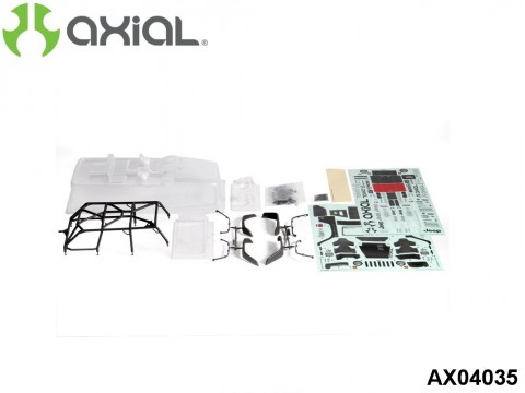 """AXIAL Racing AX04035 2012 Jeep Wrangler Unlimited Rubicon™ Body - .040"""" (Clear) - Complete"""