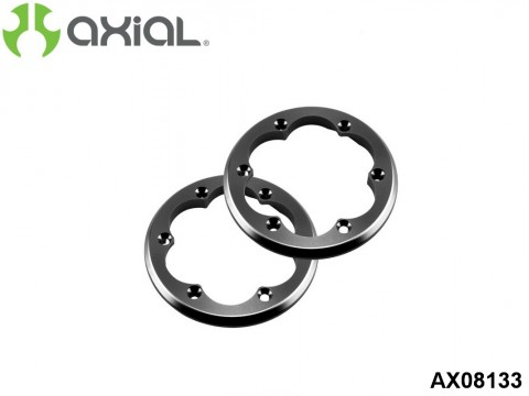 AXIAL Racing AX08133 2.2 VWS Machined Beadlock Ring (Grey) (2pcs)