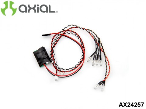 AXIAL Racing AX24257 Simple LED Controller w/LED lights (4 white and 2 Red)