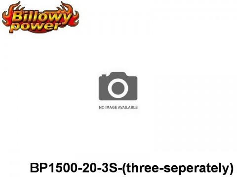 326 BILLOWY-Power X5-20C Lipo Packs Series: 20 BP1500-20-3S-(three-seperately) 11.1 3S1P