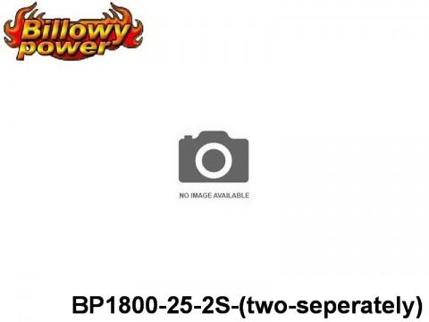 317 BILLOWY-Power X5-25C Lipo Packs Series: 25 BP1800-25-2S-(two-seperately) 7.4 2S1P