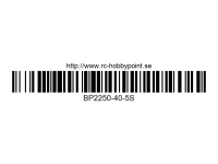 100 BILLOWY-Power X5-40C Lipo Packs Series: 40 BP2250-40-5S 18.5 5S1P