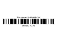 101 BILLOWY-Power X5-40C Lipo Packs Series: 40 BP2250-40-6S 22.2 6S1P