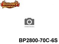 15 BILLOWY-Power X5-70C Lipo Packs Series: 70 BP2800-70C-6S 22.2 6S1P