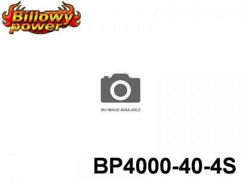 114 BILLOWY-Power X5-40C Lipo Packs Series: 40 BP4000-40-4S 14.8 4S1P