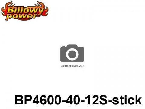 123 BILLOWY-Power X5-40C Lipo Packs Series: 40 BP4600-40-12S-stick 44.4 12S1P