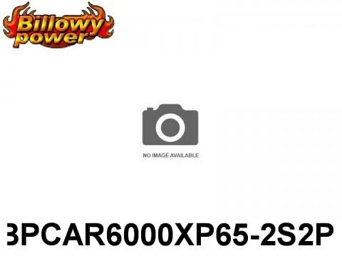 386 BILLOWY-Power X5-65C Lipo Packs Series RC-Cars: 65 BPCAR6000XP65-2S2P 7.4 2S1P
