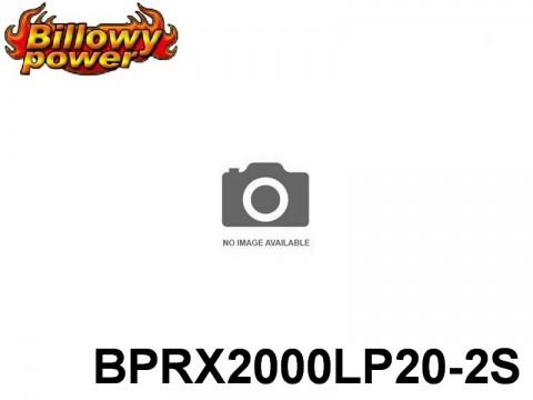 289 BILLOWY-Power Receiver Lipo Packs 20 BPRX2000LP20-2S 7.4 2S1P