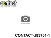 Contact RC Tyre J83701 Foam Tyre 1-8 Std White Rims Front Shore 37Sh JAP 1-Pack