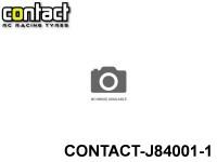 Contact RC Tyre J84001 Foam Tyre 1-8 Std White Rims Front Shore 40Sh JAP 1-Pack