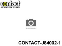 Contact RC Tyre J84002 Foam Tyre 1-8 Std White Rims Rear Shore 40Sh JAP 1-Pack