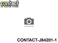 Contact RC Tyre J84201 Foam Tyre 1-8 Std White Rims Front Shore 42Sh JAP 1-Pack