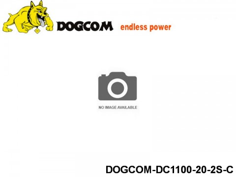 12 ASG Lipo battery packs DOGCOM-DC1100-20-2S-C 7.4 2S