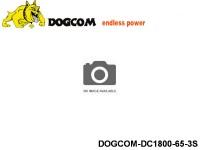 142 RC FPV Racer Regular Lipo Battery Packs DOGCOM-DC1800-65-3S 11.1 3S