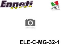 Enneti Tyres Italy Mugen Seiki Rim Tyres 1-10 Series Rubbers Electric Carbon ELE-C-MG-32 Black Colour Shore32 26mm -1-Pack