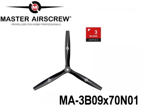 1116 MA-3B09x70N01 Master Airscrew Multi Rotor Propellers Only 3-Blade 9-inch x 7-inch - 228.6mm x 177.8mm
