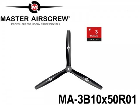 1132 MA-3B10x50R01 Master Airscrew Multi Rotor Propellers Only 3-Blade 10-inch x 5-inch - 254mm x 127mm Rev.-Pusher