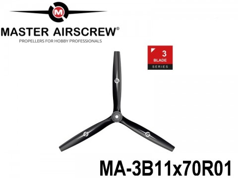 104 MA-3B11x70R01 Master Airscrew Propellers 3-Blade 11-inch x 7-inch - 279.4mm x 177.8mm Rev.-Pusher