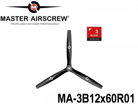 113 MA-3B12x60R01 Master Airscrew Propellers 3-Blade 12-inch x 6-inch - 304.8mm x 152.4mm Rev.-Pusher