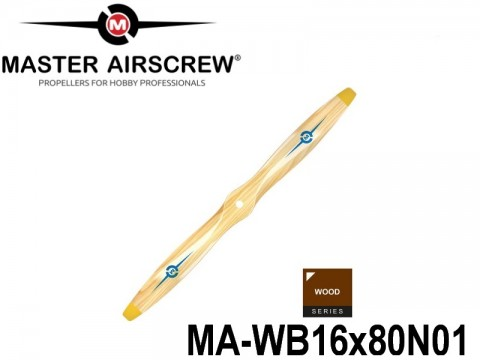 936 MA-WB16x80N01 Master Airscrew Propellers Wood Series 16-inch x 8-inch - 406.4mm x 203.2mm