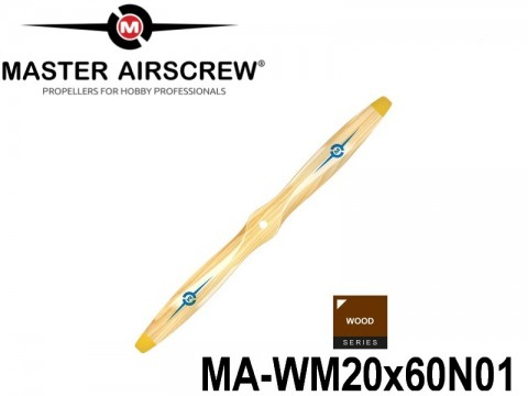 943 MA-WM20x60N01 Master Airscrew Propellers Wood Series 20-inch x 6-inch - 508mm x 152.4mm