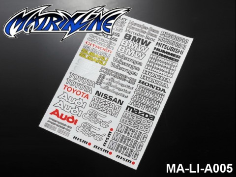 137 LOGO SELECTION 2 - High Flexible Vinyl Label MA-LI-A005