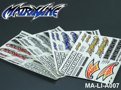 141 MATRIXLINE LOGO DECAL SHEET - High Flexible Vinyl Label MA-LI-A007