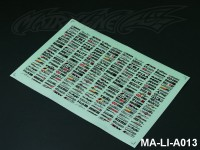 101 DECORATION LOGO DECAL SHEET - High Flexible Vinyl Label (Hot Sale) MA-LI-A013