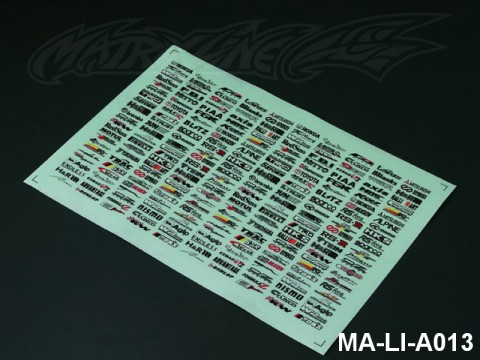101 DECORATION LOGO DECAL SHEET - High Flexible Vinyl Label (Hot Sale) MA-LI-A013
