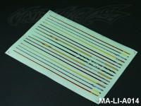104 STRIPES DECAL SHEET - High Flexible Vinyl Label (Hot Sale) MA-LI-A014