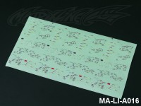 108 TRACK MAP DECAL SHEET - High Flexible Vinyl Label MA-LI-A016
