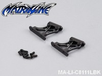 41 Rear Wing Mount (CNC Aluminium) Height: 2.5cm MA-LI-C8111LBK Black