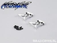 44 Rear Wing Mount (CNC Aluminium) Height: 2.5cm MA-LI-C8111LSL Silver