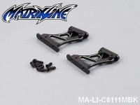 45 Rear Wing Mount (CNC Aluminium) Height: 3cm MA-LI-C8111MBK Black