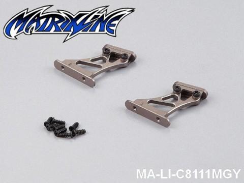 46 Rear Wing Mount (CNC Aluminium) Height: 3cm MA-LI-C8111MGY Grey