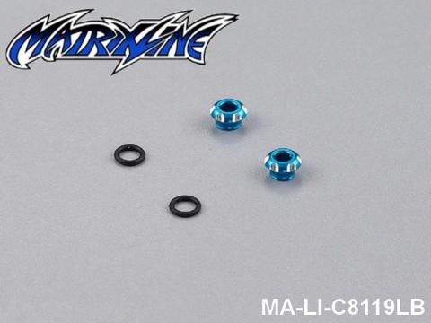 11 CNC Aluminium Alloy LED Light Holder For 3mm MA-LI-C8119LB Light-Blue