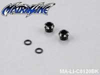 13 CNC Aluminium Alloy LED Light Holder For 5mm MA-LI-C8120BK Black