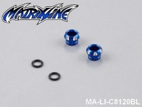 14 CNC Aluminium Alloy LED Light Holder For 5mm MA-LI-C8120BL Blue