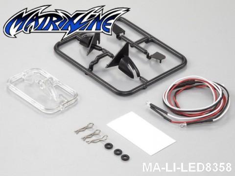 155 Wing Mirror W-LED Unit Set 1-10 Touring Car MA-LI-LED8358