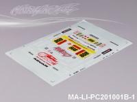 93 BMW Z4 DECAL SHEET - High Flexible Vinyl Label MA-LI-PC201001B-1