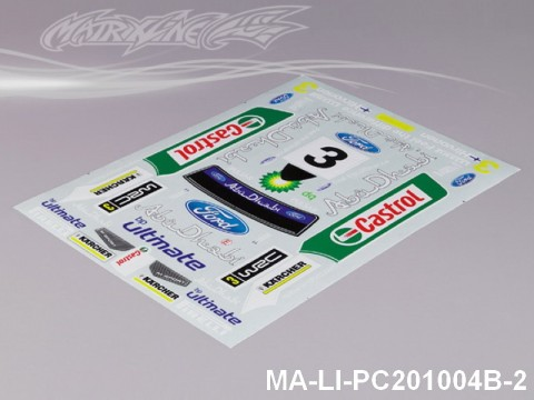 133 FORD FOCUS DECAL SHEET - High Flexible Vinyl Label MA-LI-PC201004B-2