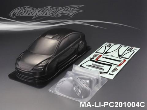422 FORD FOCUS CARBON-PRINTING PC Body SHELL MA-LI-PC201004C Transparent