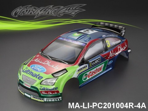 370 FORD FOCUS Finished PC Body RTR MA-LI-PC201004R-4A Painted